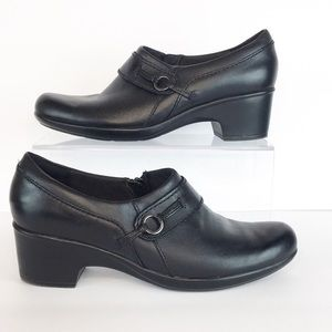 Clarks Collection Black Leather Shoes